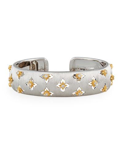 Maci Giglio 18k White Gold Diamond Cuff, 1.5cm