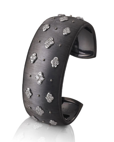 Macri 18k White Gold Cuff Bracelet w/ Diamonds