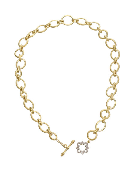 Tanya Farah 18K Royal Couture Diamond Cloud Toggle Necklace