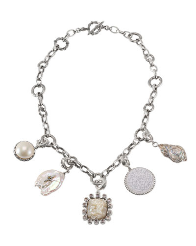 Detachable Pearl & Pendant Necklace