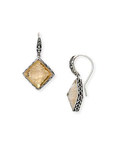 Carved Pyramid-Drop Earrings