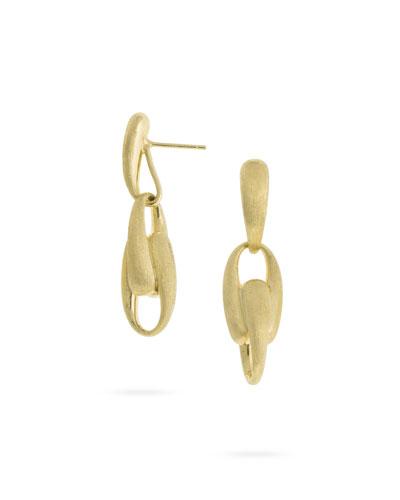Lucia 18k Gold Link Drop Earrings