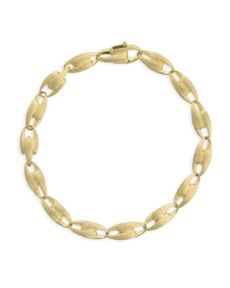 "Marco Bicego Lucia 18k Alternating Chain-Link Bracelet, 7""L"