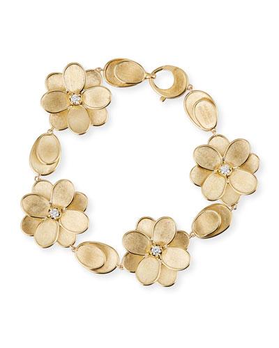 Petali 18k Diamond Flower Bracelet