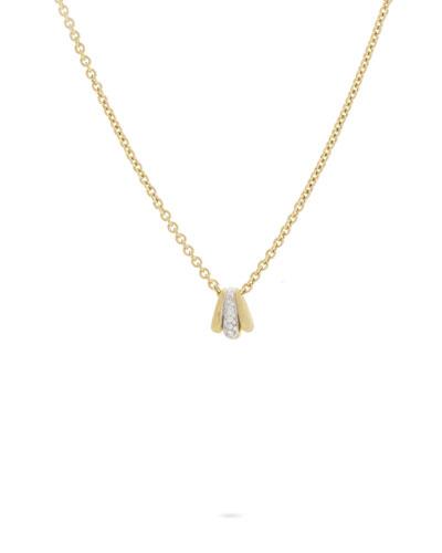 Lucia 18k Mini Pendant Necklace w/ Diamonds