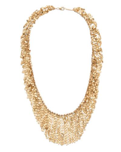 14k Gold Fringe Choker Necklace, 15