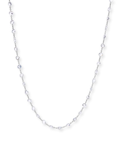 18k White Gold Diamond Chain Necklace