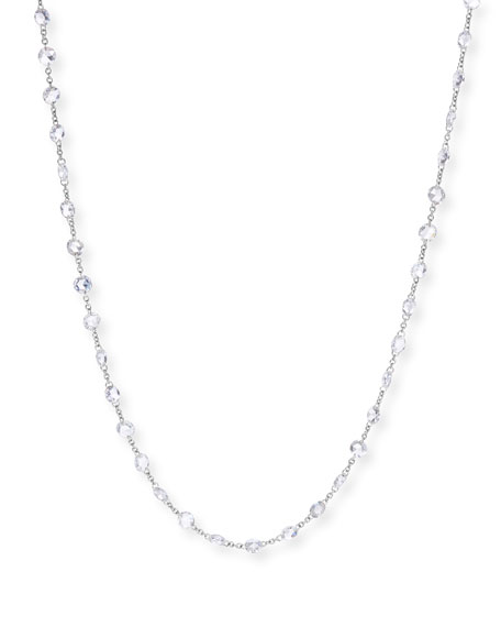 64 Facets 18k White Gold Diamond Chain Necklace