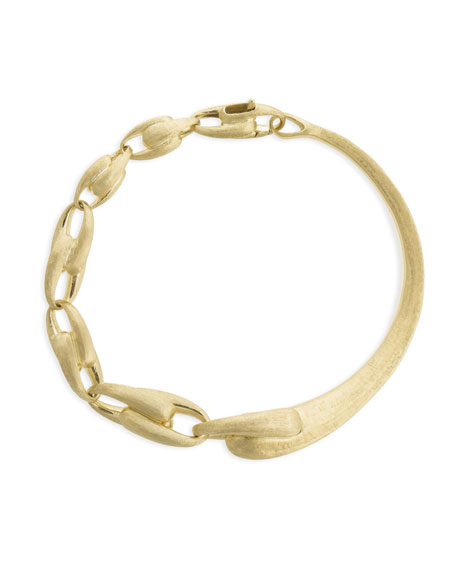 Marco Bicego Lucia 18k Gold Halfway Chain-Link Bangle