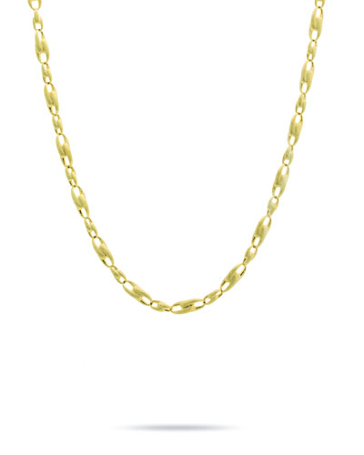 Lucia 18k Gold Interlock Chain Necklace, 17