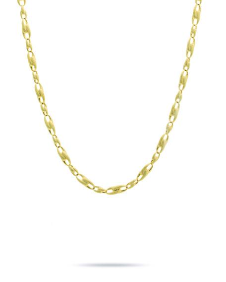 "Marco Bicego Lucia 18k Gold Interlock Chain Necklace, 17""L"