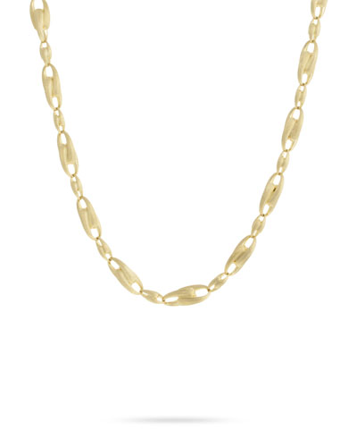 Lucia 18k Gold Interlock Chain Necklace, 18