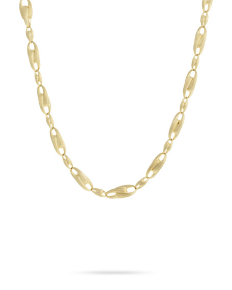 "Marco Bicego Lucia 18k Gold Interlock Chain Necklace, 18""L"