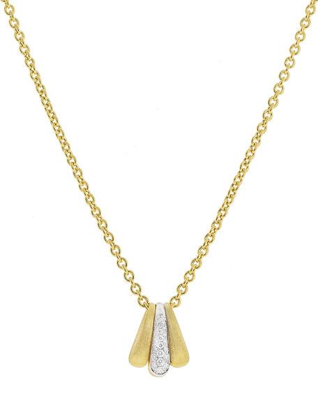Marco Bicego Lucia 18k Diamond Pendant Necklace