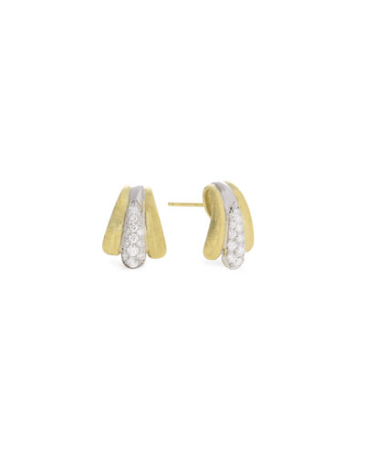 Lucia 18k Diamond Huggie Hoop Earrings