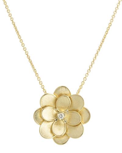 Petali 18k Flower Pendant Necklace w/ Diamond