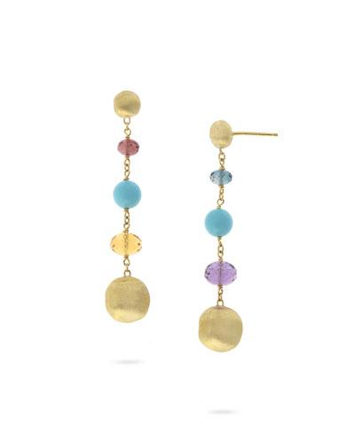 Africa 18k Mixed-Stone Dangle Earrings
