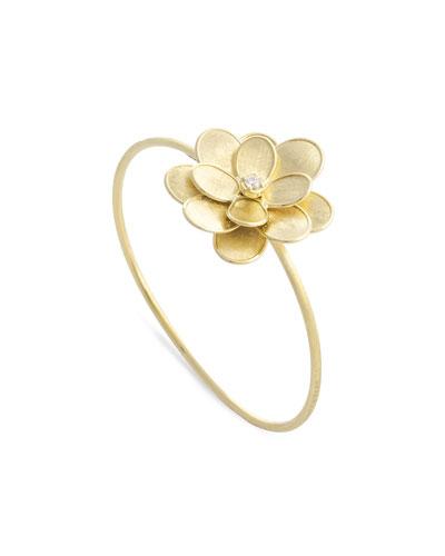 Petali 18k Flower Bangle w/ Diamond