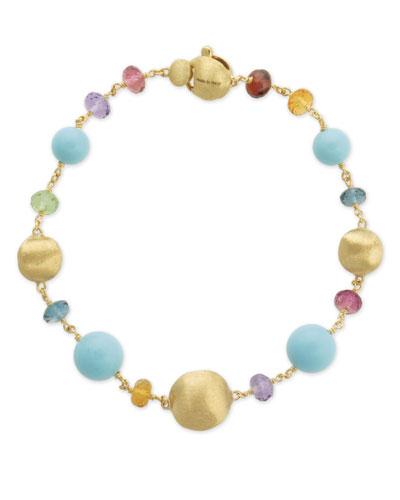 Africa 18k Mixed-Stone Bracelet