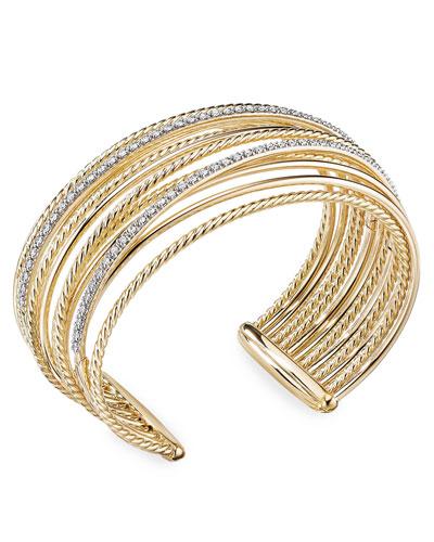 d3490574599 Quick Look. David Yurman · DY Crossover 18k Gold Cuff Bracelet w  Diamonds  ...