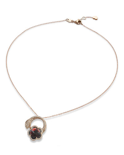 Bon Ton 18k Rose Gold Necklace with Diamonds
