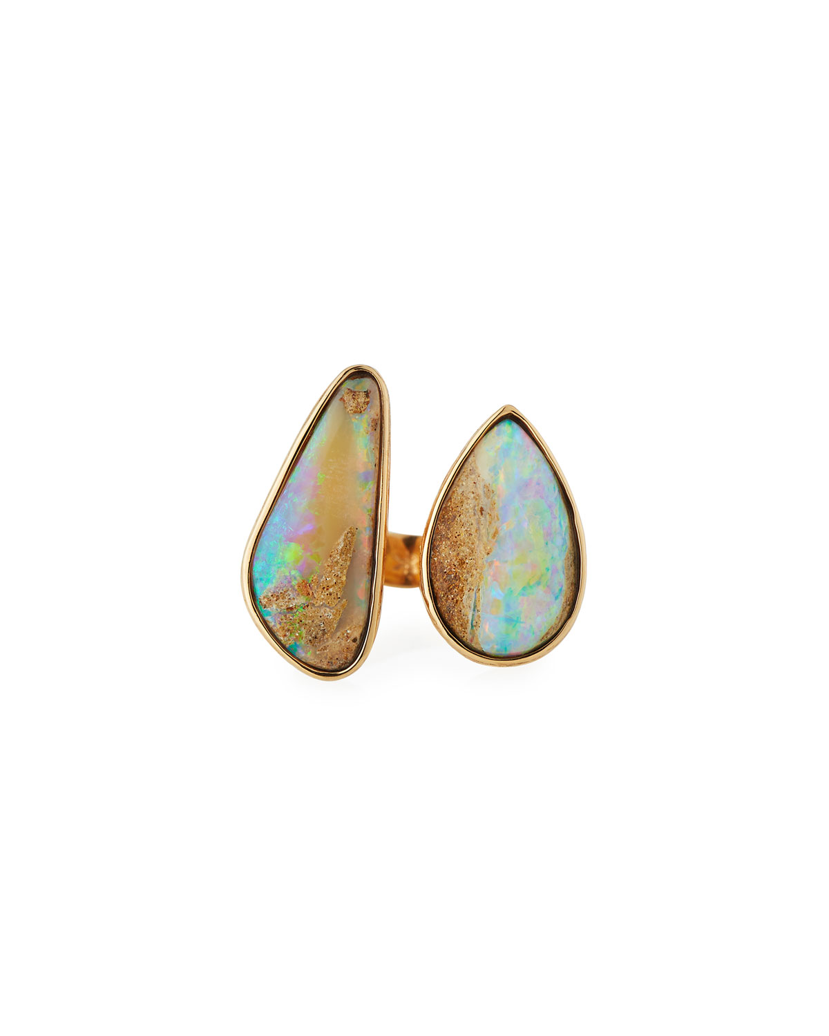 Twig 18k Large Double-Opal Ring