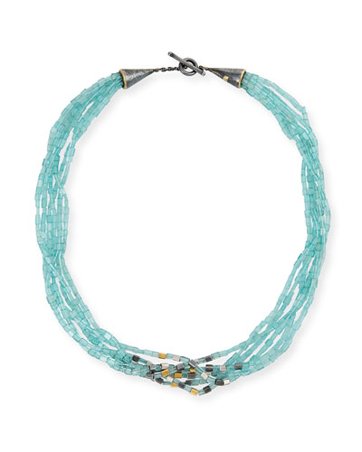 Roxanne Cone Apatite Multi-Strand Necklace