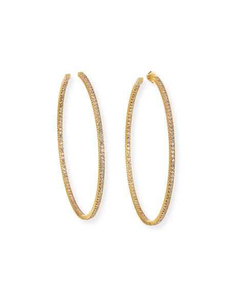 Yossi Harari Lilah 18k Diamond Hoop Earrings