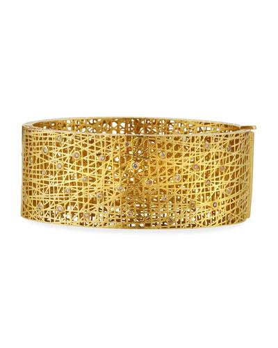 18k Medium Lace Cuff w/ Diamonds