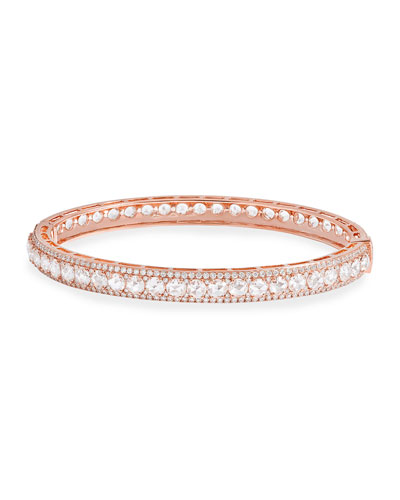 18K Rose Gold Hinged Diamond Bracelet