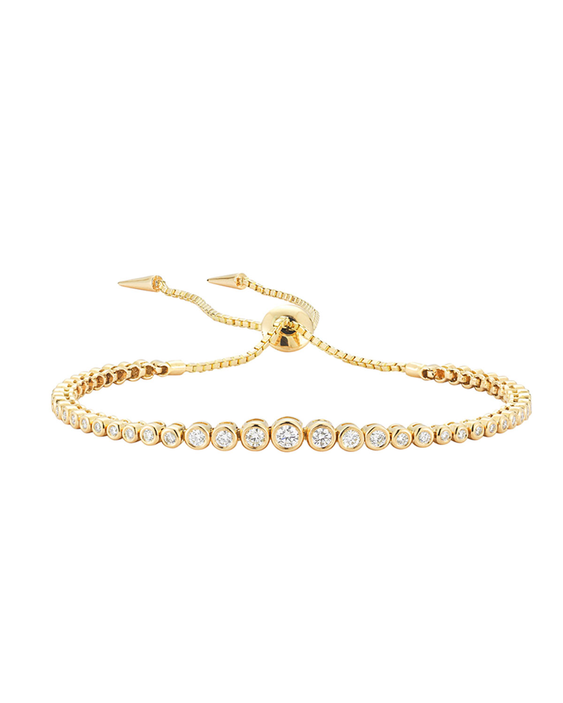 Prive Diamond Slider Bracelet in 18K Gold