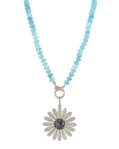 Diamond Daisy & Sapphire Necklace