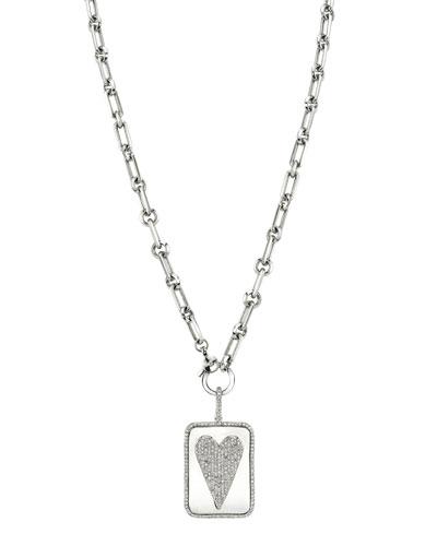 Soho Necklace w/ Diamond Heart Dog Tag