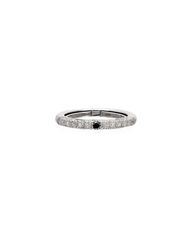 Never Ending 18k White Gold Black & White Diamond Ring