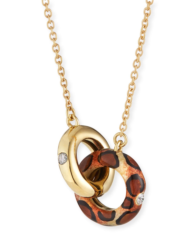18k Gold Diamond & Animal-Print Necklace