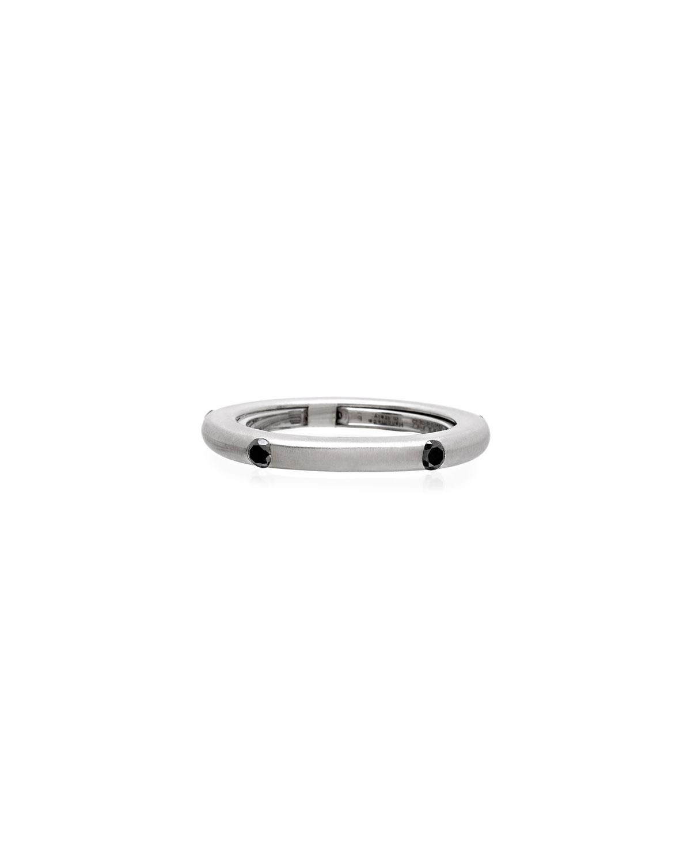 Never Ending 18k White Gold Black Diamond Ring