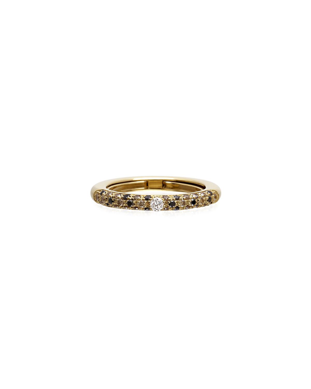 Never Ending 18k Gold Diamond & Tsavorite Ring