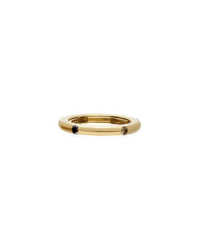 Never Ending 18k Yellow Gold Brown & Black Diamond Ring, Size 6-8