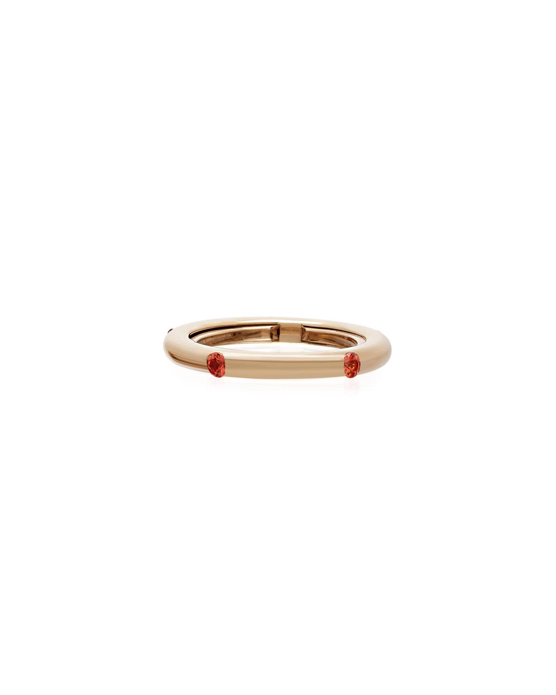 Never Ending 18k Pink Gold Orange Sapphire Ring