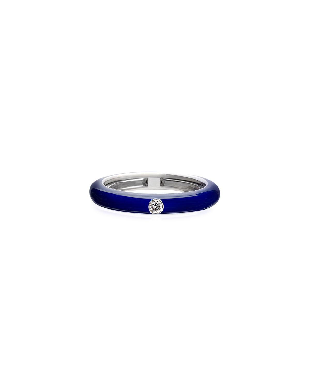 Never Ending 18k White Gold Diamond & Blue Ring