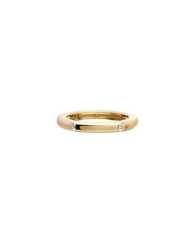 Never Ending 18k Gold Diamond Ring, Size 6-8