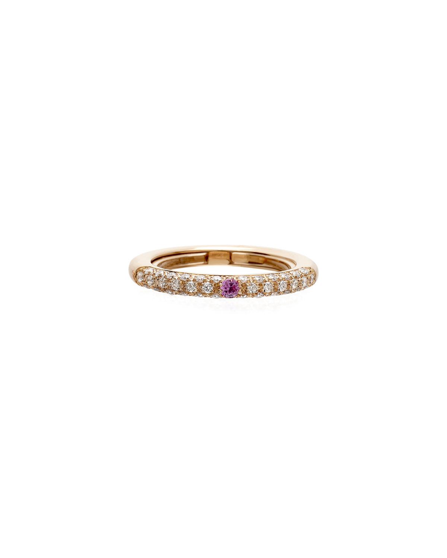 Never Ending 18k Pink Gold Diamond & Pink Sapphire Ring