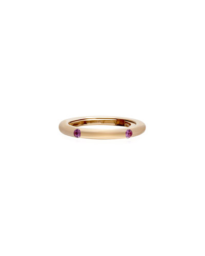 Never Ending 18k Pink Gold Pink Sapphire Ring, Size 6-8
