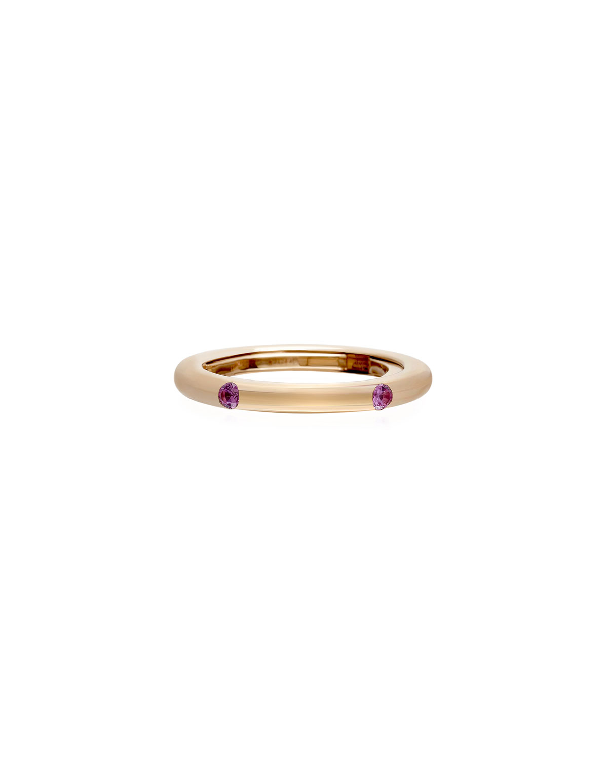 Never Ending 18k Pink Gold Pink Sapphire Ring
