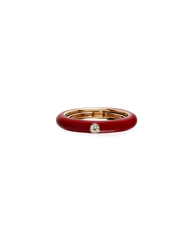 Never Ending 18k Pink Gold Diamond & Red Ring