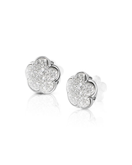 Pasquale Bruni Bon Ton 18k White Gold Earrings w/ Diamonds