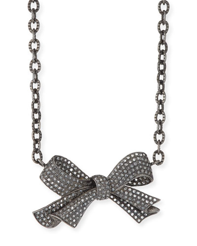 Diamond Pave Bow Necklace