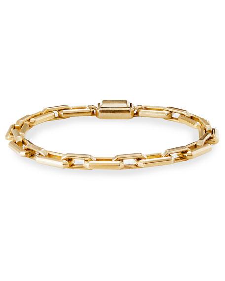 David Yurman Novella 18k Gold Bracelet, Size Large