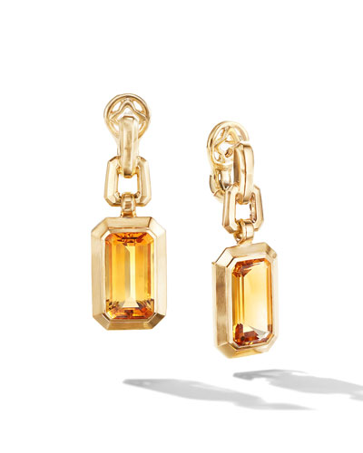 Novella 18k Gold 19mm Citrine Drop Earrings