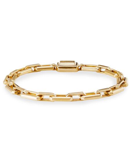 David Yurman Novella 18k Gold Bracelet, Size Medium